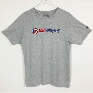 Adidas USA Volleyball Gray T-Shirt Medium